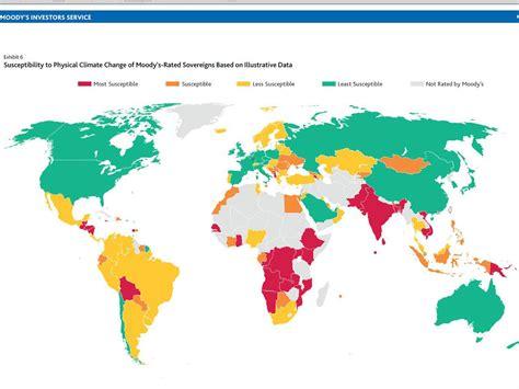 map shows  climate change  hit  economies