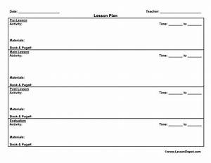 lesson plans have fun teaching With sports lesson plan template