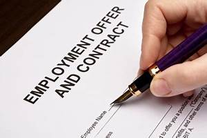 Preparing employment Contract