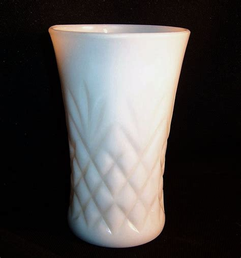 milk glass anchor hocking milk glass pineapple pattern tumbler from ruthsredemptions on ruby lane