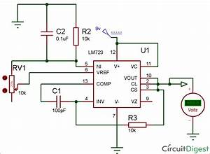 Lm723 Voltage Regulator Circuit Diagram In 2019