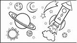 Space Coloring Outer Pages sketch template