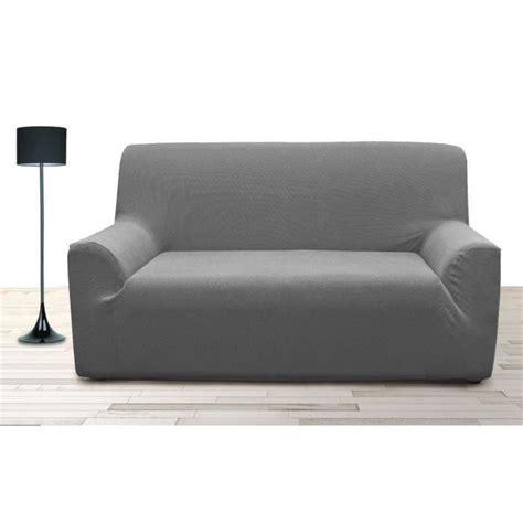 housse canap 3 places housse de canapé 3 places stretch gris achat