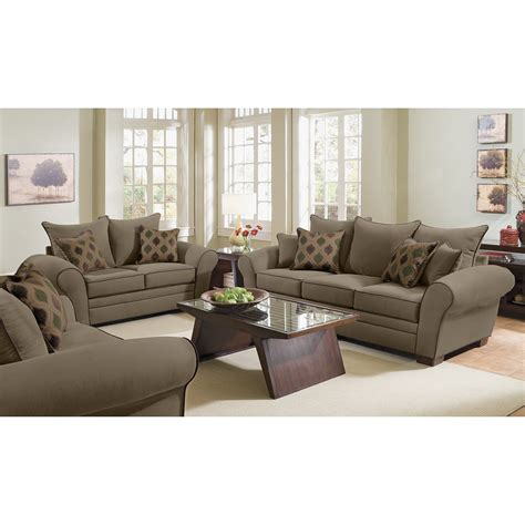 value city furniture desks rendezvous sofa and loveseat set olive value city