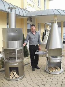 grillkamin und gartenkamin aus edelstahl zum grillen und With französischer balkon mit gas kamin garten