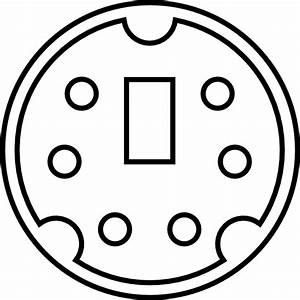 Minidin Diagram Clip Art Free Vector    4vector