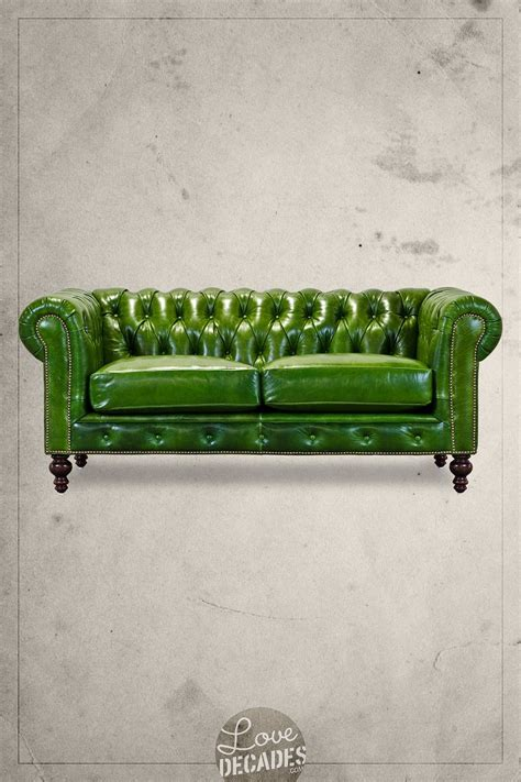 Apartment Therapy Leather Sofa by Higgins Chesterfield Sofa In A Lovely Bottle Green House