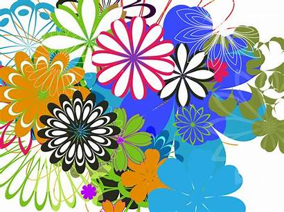 Colorful Flower Background Flowers Backgrounds Vector Spring