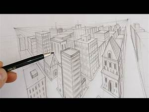 comment dessiner une ville en perspective youtube With wonderful dessin de maison en 3d 3 comment dessiner une ville en 3d