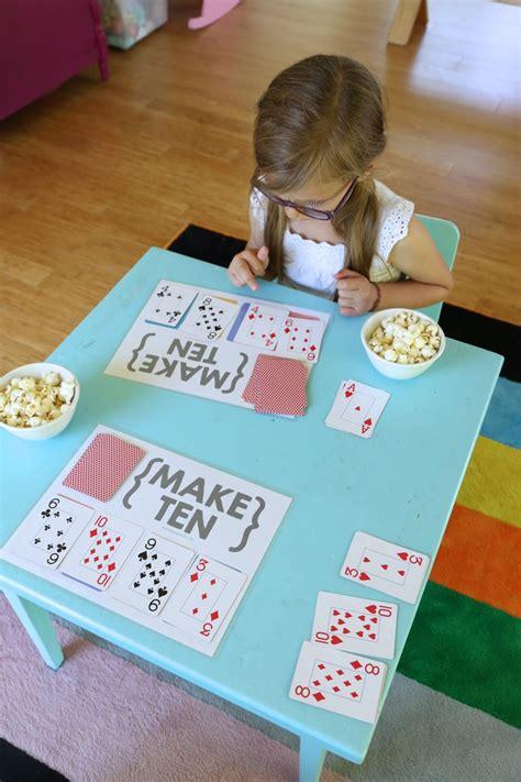 Make Ten {an Easy Card Game For Kids} Mamapapabubba