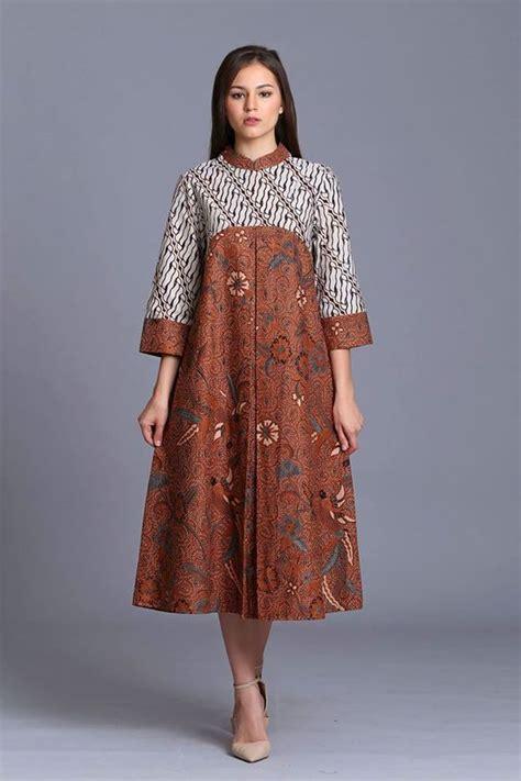model baju batik terbaru  modern elegan