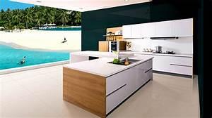 Cuisine Blanche Et Bois Ikea : cuisine ikea blanche sans poignee cuisine en image ~ Dailycaller-alerts.com Idées de Décoration