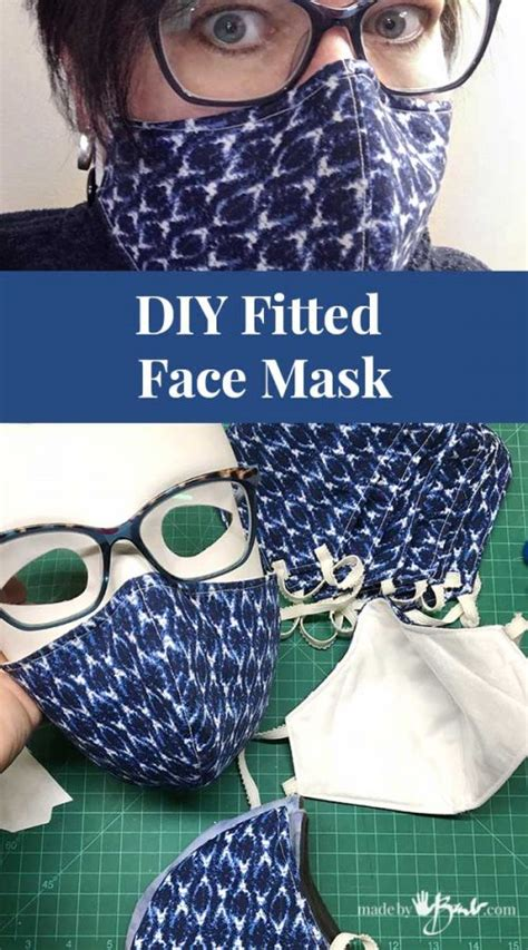 diy fitted face mask   barb  pattern