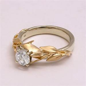 two tone leaves engagement ring game of thrones jewelry With game of thrones wedding rings