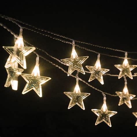 waterproof plastic star outdoor lighting string