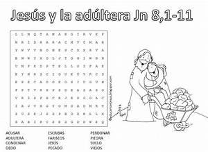 Educar con Jesús: Jesús y la pecadora adúltera (CUC5) Sopa de letras