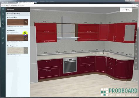 design a kitchen free 3d prodboard kitchen planner 3d kitchen design 9561
