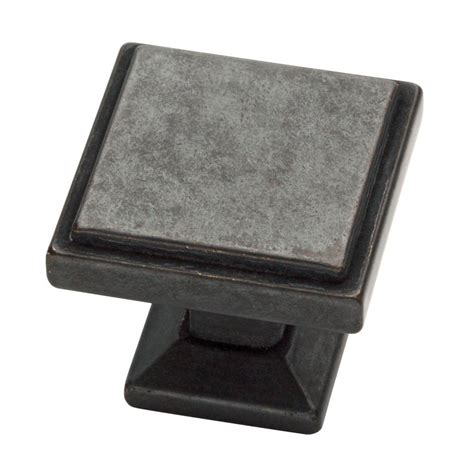 Square Cabinet Knobs by Liberty Classic Square 1 1 8 In 28 Mm Soft Iron Cabinet