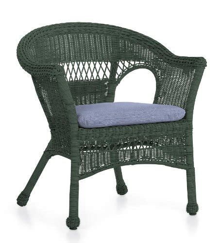 all weather resin outdoor easy care wicker chair in green