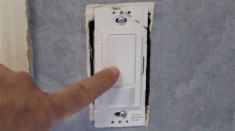 motion sensor light repair how to program the maestro motion sensor light switch