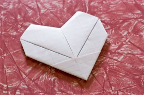camp smartypants paper heart note fold tutorial