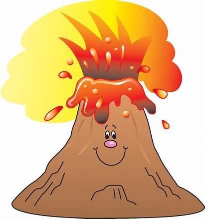 Volcano Clipart Clip Study Cliparts Cartoon Animated