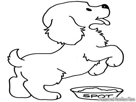 contoh gambar mewarnai gambar anjing