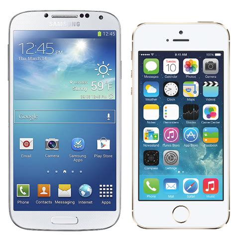 iphone vs samsung iphone 5s or samsung s4 popsugar tech