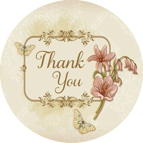 Floral Thank You Stickers Wedding Thank You Labels Wedding