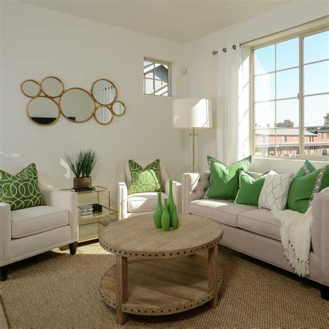 Neutral Green Living Room by Transitional Living Room With Neutral Furniture