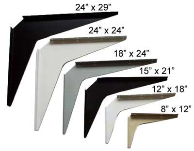 white touch up paint workstation and counter support brackets