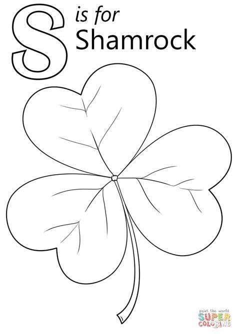 letter    shamrock coloring page  printable