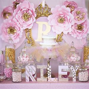 Shimmering Pink And Gold Baby Shower - Baby Shower Ideas