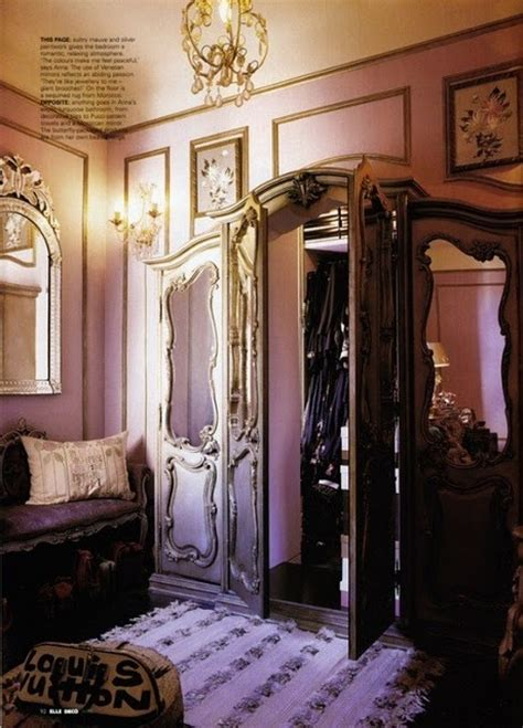 awesome walk in closet and baroque decor