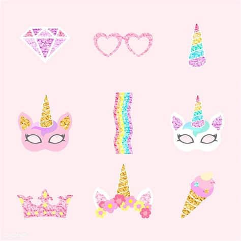 Choose from over a million free vectors, clipart graphics, vector art images, design templates, and illustrations created by artists worldwide! Cute unicorn photo booth party props vector   free image ...
