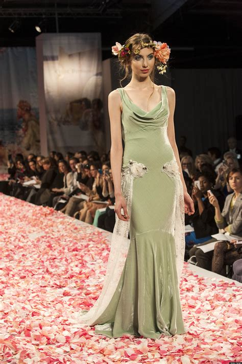 colored wedding dresses  fall  collections