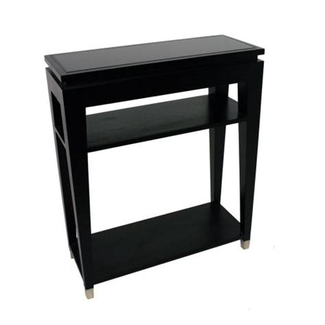 black glass console table black glass top console table with 2 shelves