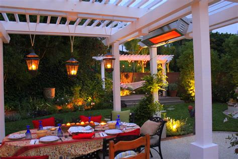 antique outdoor pendant lights for a white patio with oval