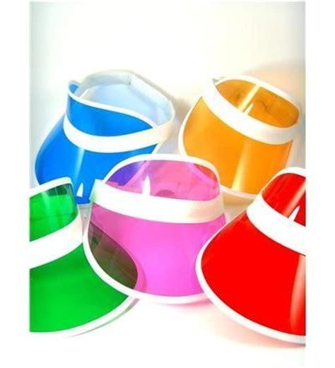 colored visors colorful transparent sun visors if you 80 s fashion