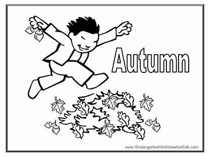 Coloring Fall Pages Autumn Children Sheets Template