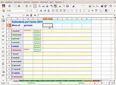 OpenOffice & LibreOffice Un calendario planner per il
