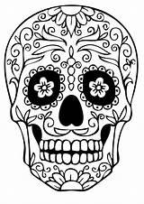 Coloring Pages Skull Sugar Printable sketch template