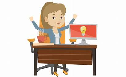 Customer Clipart Service Scenarios Happy Response Representative