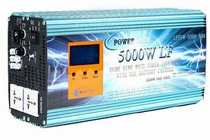 Lf 5000w Pure Sine Wave Power Inverter Dc 48v To Ac 220v 50hz    80a Battery Charger   Lcd Power