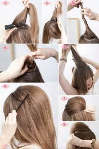 chignon tool simple hairstyles for hair step by step