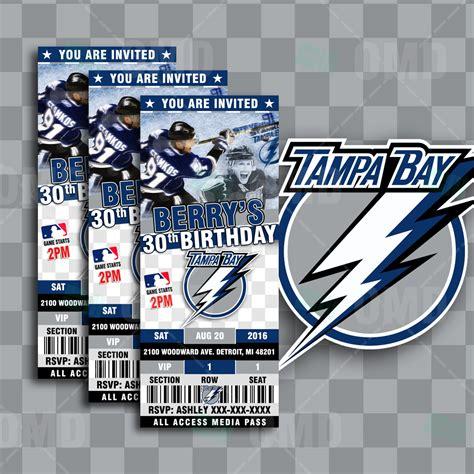 foto de Tampa Bay Lightning Hockey Sports Party Invitations