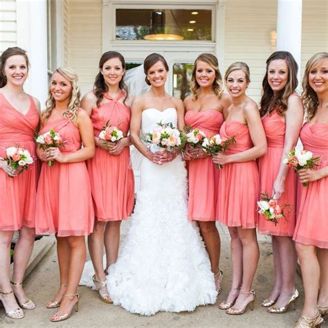 coral bridesmaids dresses coral bridesmaid dresses
