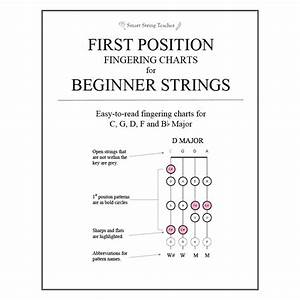 First Position Charts For Beginner Strings
