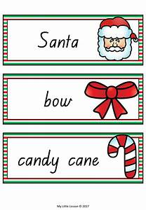 Christmas Word Cards QLD Beginners Font - The Alphabet Tree