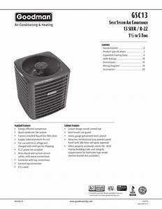 Goodman Mfg Gsc13 User U0026 39 S Manual